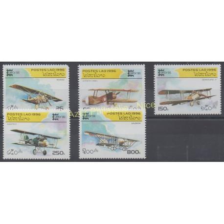 Laos - 1996 - No 1225/1229 - Avions