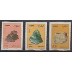 Algérie - 1994 - No 1073/1075 - Minéraux - Pierres précieuses