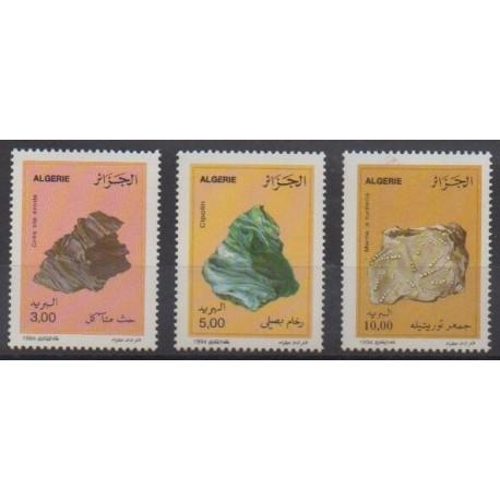 Algeria - 1994 - Nb 1073/1075 - Minerals - Gems
