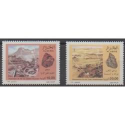 Algérie - 1996 - No 1106/1107 - Minéraux - Pierres précieuses
