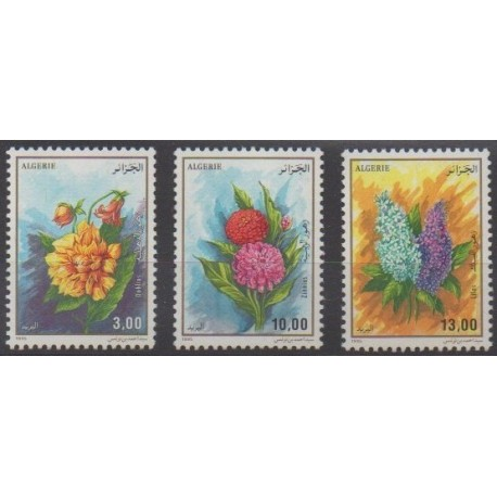 Algeria - 1995 - Nb 1083/1085 - Flowers