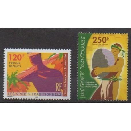 Polynesia - 2000 - Nb 625/626 - Various sports