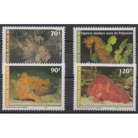 Polynesia - 1999 - Nb 580/583 - Sea life