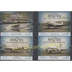 Portugal (Azores) - 2014 - Nb 585/588 - Planes