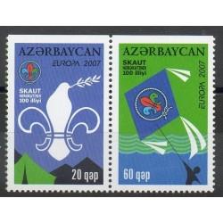 Azerbaïdjan - 2007- No 580a/581a - Scouts