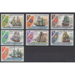 Grenadines - 1976 - Nb 157/165 - Various Historics Themes - Boats - Used