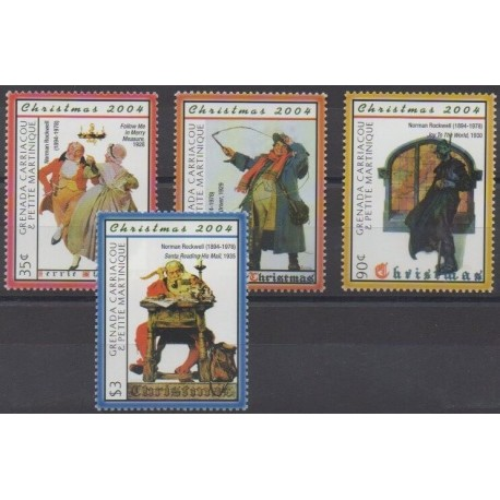 Grenadines - 2004 - Nb 3462/3465 - Christmas - Paintings