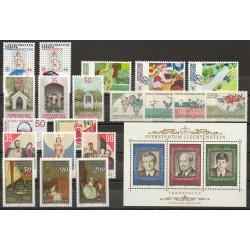 Liechtenstein - Année complète - 1988 - No 878/900 - BF 16