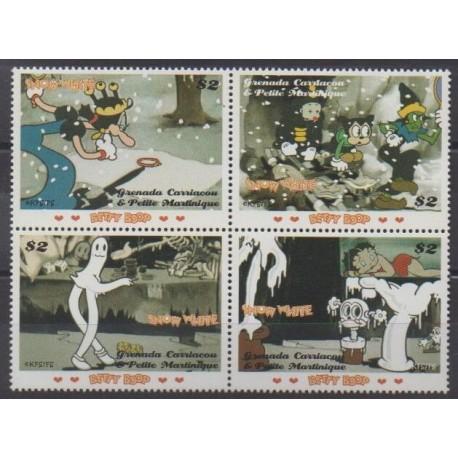 Grenadines - 2007 - Nb 3655/3658 - Cartoons - Comics