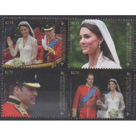 Grenadines - 2011 - Nb 3935/3938 - Royalty