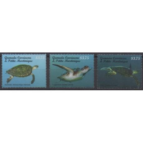 Grenadines - 2014 - Nb 4058/4060 - Reptils