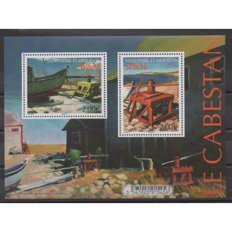 Saint-Pierre and Miquelon - Blocks and sheets - 2020 - Nb F1250 - Boats