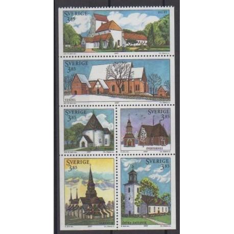Sweden - 1997 - Nb 1958/1963 - Churches