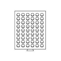 Médailler à compartiments circulaires pour pièces de 2 euros sous capsules