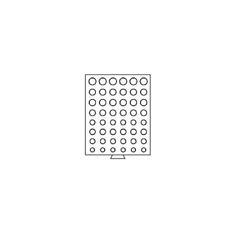 Médailler à compartiments circulaires pour 6 séries d'euros