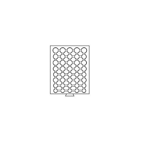 Médailler à compartiments circulaires pour 6 séries d'euros sous capsules