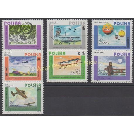 Pologne - 1984 - No 2751/2757 - Avions