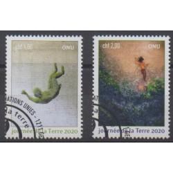 Nations Unies (ONU - Genève) - 2020 - No 1085/1086 - Environnement - Oblitérés