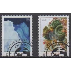 Nations Unies (ONU - New-York) - 2020 - No 1689/1690 - Environnement - Oblitérés