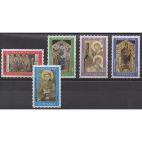 Grenade - 2002 - Nb 4252/4256 - Christmas - Paintings