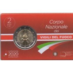 2 euro commémorative - Italy - 2020 - 80th Anniversary of Foundation of Corpo Nazionale dei Vigili del Fuoco - BU