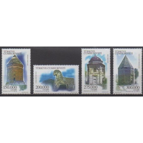 Turkey - 2000 - Nb 2961/2964 - Monuments