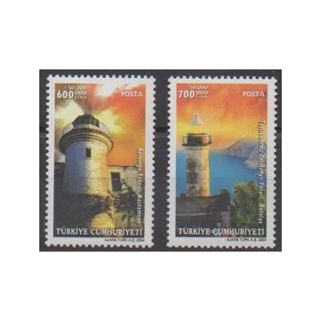 Turkey - 2004 - Nb 3099/3100 - Lighthouses