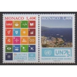 Monaco - 2020 - Nb 3254/3255 - Nations Unies - Environment