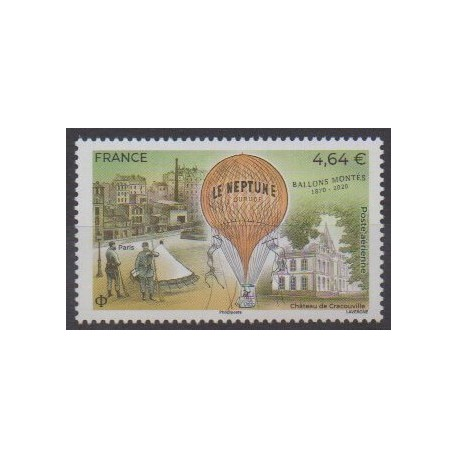 France - Airmail - 2020 - Nb PA84 - Hot-air balloons - Airships