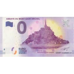 Billet souvenir - Abbaye Du Mont-Saint-Michel - 2017
