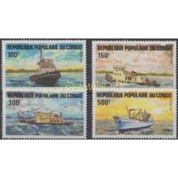 Congo (République du) - 1984 - No 730/733 - Bateaux