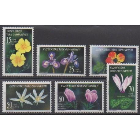 Turkey - Northern Cyprus - 2006 - Nb 587/592 - Flowers