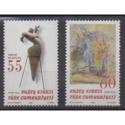 Turkey - Northern Cyprus - 2006 - Nb 593/594 - Art
