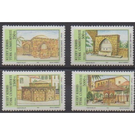 Turkey - Northern Cyprus - 1991 - Nb 282/285 - Monuments