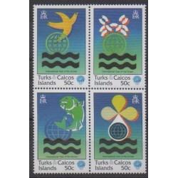 Turks et Caiques (Iles) - 1998 - No 1287/1290 - Environnement - Vie marine