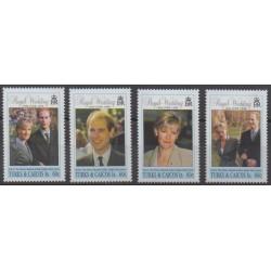 Turks et Caiques (Iles) - 1999 - No 1332/1335 - Royauté - Principauté