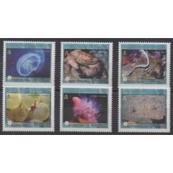 Turks et Caiques (Iles) - 1999 - No 1346/1351 - Vie marine