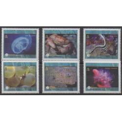 Turks et Caiques (Iles) - 2000 - No 1385/1390 - Vie marine