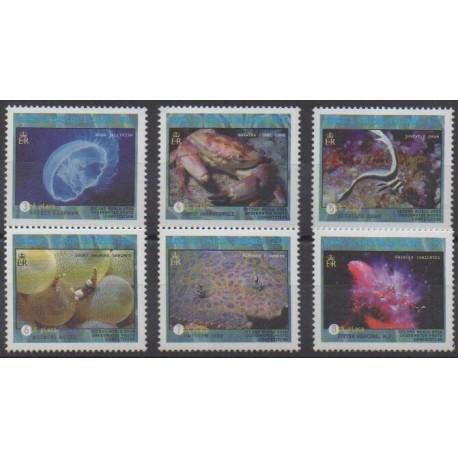 Turks and Caicos ( Islands) - 2000 - Nb 1385/1390 - Sea life
