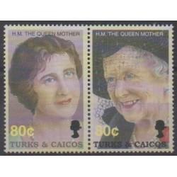 Turks et Caiques (Iles) - 2002 - No 1552/1553 - Royauté - Principauté