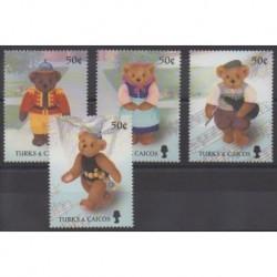 Turks et Caiques (Iles) - 2003 - No 1599/1602 - Enfance