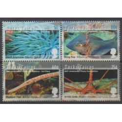 Turks et Caiques (Iles) - 2008 - No 1708/1711 - Vie marine