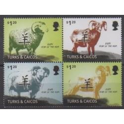 Turks et Caiques (Iles) - 2014 - No 1762/1765 - Horoscope