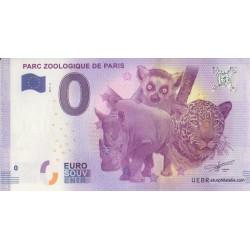 Billet souvenir - Parc zoologique de Paris - 2017
