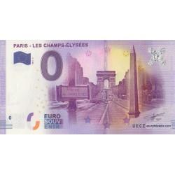 Euro bankenote memory - 75 - Paris - Les Champs Elysées - 2017-2