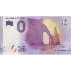 Euro bankenote memory - 76 - Falaise d'Etretat - 2017