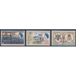 Turks et Caiques (Iles) - 1966 - No 193/195 - Histoire