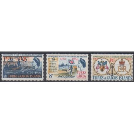 Turks and Caicos ( Islands) - 1966 - Nb 193/195 - Various Historics Themes
