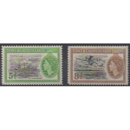 Turks and Caicos ( Islands) - 1955 - Nb 161/162