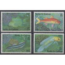 Turks and Caicos ( Islands) - 1990 - Nb 871/874 - Sea life